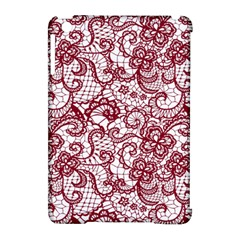 Transparent Lace With Flowers Decoration Apple Ipad Mini Hardshell Case (compatible With Smart Cover) by Nexatart