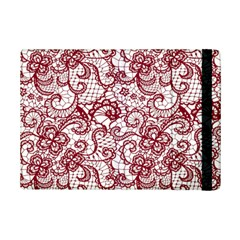 Transparent Lace With Flowers Decoration Ipad Mini 2 Flip Cases by Nexatart