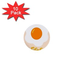 Egg Eating Chicken Omelette Food 1  Mini Buttons (10 Pack)  by Nexatart