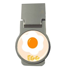 Egg Eating Chicken Omelette Food Money Clips (round)  by Nexatart