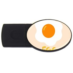 Egg Eating Chicken Omelette Food Usb Flash Drive Oval (2 Gb) by Nexatart