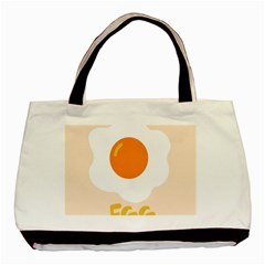 Egg Eating Chicken Omelette Food Basic Tote Bag (two Sides) by Nexatart