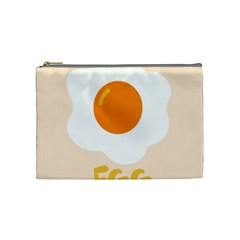 Egg Eating Chicken Omelette Food Cosmetic Bag (medium)  by Nexatart