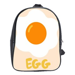 Egg Eating Chicken Omelette Food School Bags(large)