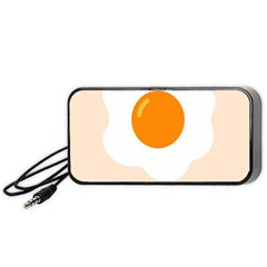 Egg Eating Chicken Omelette Food Portable Speaker (black)