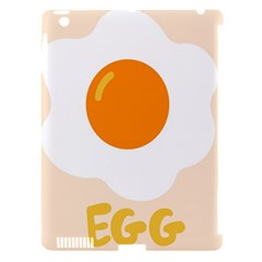 Egg Eating Chicken Omelette Food Apple Ipad 3/4 Hardshell Case (compatible With Smart Cover)