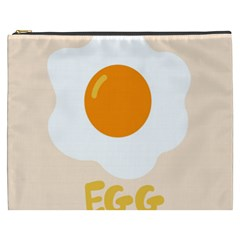 Egg Eating Chicken Omelette Food Cosmetic Bag (xxxl)  by Nexatart