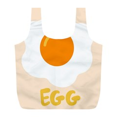 Egg Eating Chicken Omelette Food Full Print Recycle Bags (l)