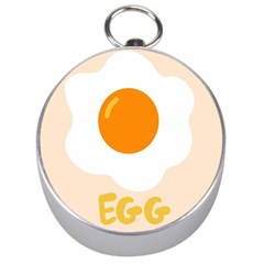 Egg Eating Chicken Omelette Food Silver Compasses by Nexatart