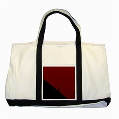 Walking Stairs Steps Person Step Two Tone Tote Bag by Nexatart
