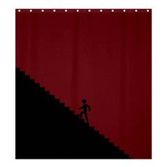Walking Stairs Steps Person Step Shower Curtain 66  X 72  (large)  by Nexatart