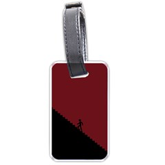 Walking Stairs Steps Person Step Luggage Tags (one Side)  by Nexatart