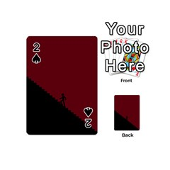 Walking Stairs Steps Person Step Playing Cards 54 (mini)  by Nexatart