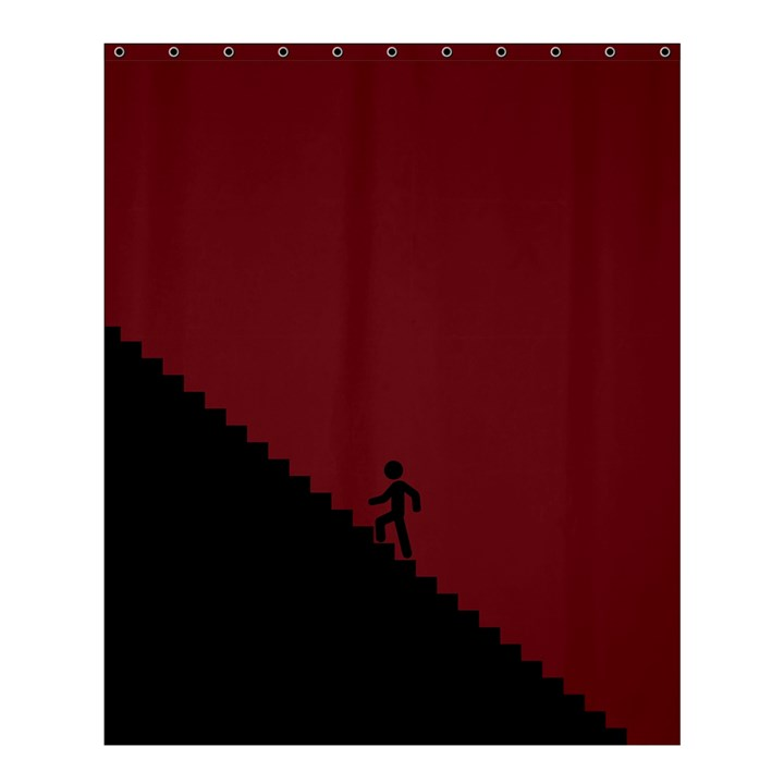 Walking Stairs Steps Person Step Shower Curtain 60  x 72  (Medium)