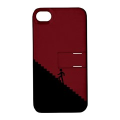 Walking Stairs Steps Person Step Apple Iphone 4/4s Hardshell Case With Stand by Nexatart