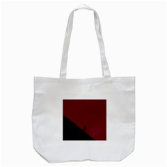 Walking Stairs Steps Person Step Tote Bag (white)