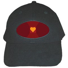 Heart Red Yellow Love Card Design Black Cap