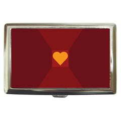 Heart Red Yellow Love Card Design Cigarette Money Cases by Nexatart