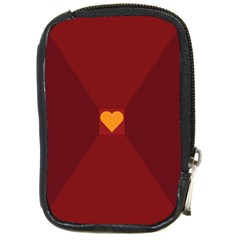 Heart Red Yellow Love Card Design Compact Camera Cases by Nexatart