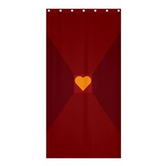 Heart Red Yellow Love Card Design Shower Curtain 36  X 72  (stall)  by Nexatart