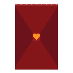 Heart Red Yellow Love Card Design Shower Curtain 48  X 72  (small)  by Nexatart