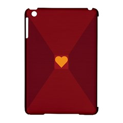 Heart Red Yellow Love Card Design Apple Ipad Mini Hardshell Case (compatible With Smart Cover)