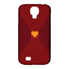 Heart Red Yellow Love Card Design Samsung Galaxy S4 Classic Hardshell Case (pc+silicone)