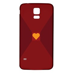 Heart Red Yellow Love Card Design Samsung Galaxy S5 Back Case (white)