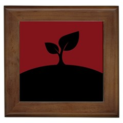 Plant Last Plant Red Nature Last Framed Tiles by Nexatart