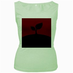 Plant Last Plant Red Nature Last Women s Green Tank Top by Nexatart