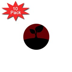 Plant Last Plant Red Nature Last 1  Mini Buttons (10 Pack)