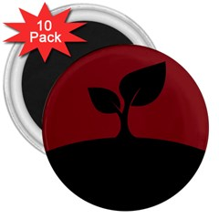Plant Last Plant Red Nature Last 3  Magnets (10 Pack)