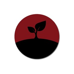 Plant Last Plant Red Nature Last Magnet 3  (round) by Nexatart