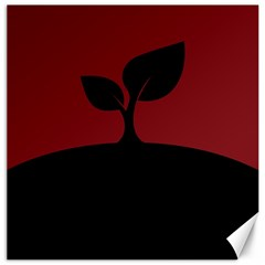 Plant Last Plant Red Nature Last Canvas 12  X 12   by Nexatart