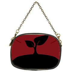 Plant Last Plant Red Nature Last Chain Purses (one Side)  by Nexatart