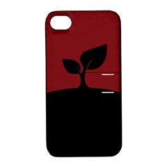 Plant Last Plant Red Nature Last Apple Iphone 4/4s Hardshell Case With Stand by Nexatart