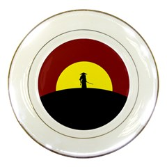 Samurai Warrior Japanese Sword Porcelain Plates by Nexatart