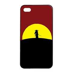 Samurai Warrior Japanese Sword Apple Iphone 4/4s Seamless Case (black) by Nexatart