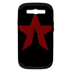 Buck Dear Animal Character Nature Samsung Galaxy S Iii Hardshell Case (pc+silicone)