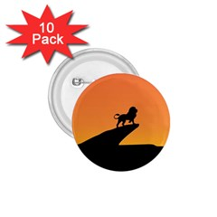 Lion Sunset Wildlife Animals King 1 75  Buttons (10 Pack) by Nexatart