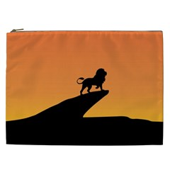 Lion Sunset Wildlife Animals King Cosmetic Bag (xxl)