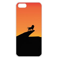 Lion Sunset Wildlife Animals King Apple Iphone 5 Seamless Case (white) by Nexatart