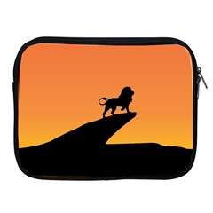 Lion Sunset Wildlife Animals King Apple Ipad 2/3/4 Zipper Cases by Nexatart