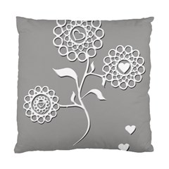 Flower Heart Plant Symbol Love Standard Cushion Case (two Sides) by Nexatart