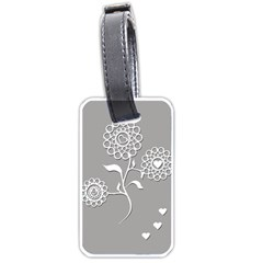 Flower Heart Plant Symbol Love Luggage Tags (two Sides)