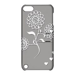 Flower Heart Plant Symbol Love Apple Ipod Touch 5 Hardshell Case With Stand by Nexatart