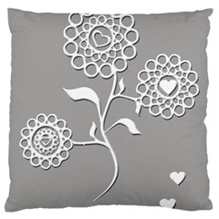Flower Heart Plant Symbol Love Standard Flano Cushion Case (one Side)