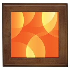 Abstract Orange Yellow Red Color Framed Tiles by Nexatart