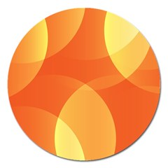 Abstract Orange Yellow Red Color Magnet 5  (round) by Nexatart