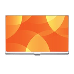 Abstract Orange Yellow Red Color Business Card Holders